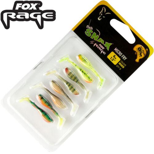 Dropshotköder Fox Rage Micro Fry Mixed Colour Pack 4cm Köder 8 Gummifische