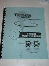 Shop Manual FOR 1956 1957 1958 1959 1960 1961 1962 Triumph Tiger T110 Trophy TR6