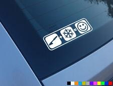 Freno De Mano Plus Nieve Smile Smiley divertido Auto Adhesivo Etiqueta Drift Jap parachoques Ventana