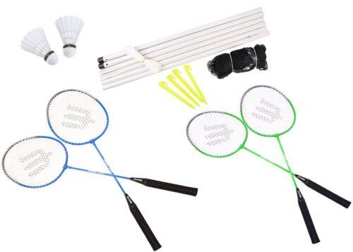 Badminton Set Badmintonset Komplettset 4 Schläger Tasche Netz Federball ENERO