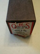 000 QRS Player Piano Music World Roll 9119 Melody of Love Ted Baxter