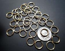 "50  Split Key Rings  5/16"" ID - SOLID BRASS ~ POLISHED"
