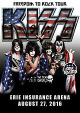 "KISS / DEAD DAISIES ""FREEDOM TO ROCK TOUR"" 2016 ERIE CONCERT POSTER-Gene Simmons"