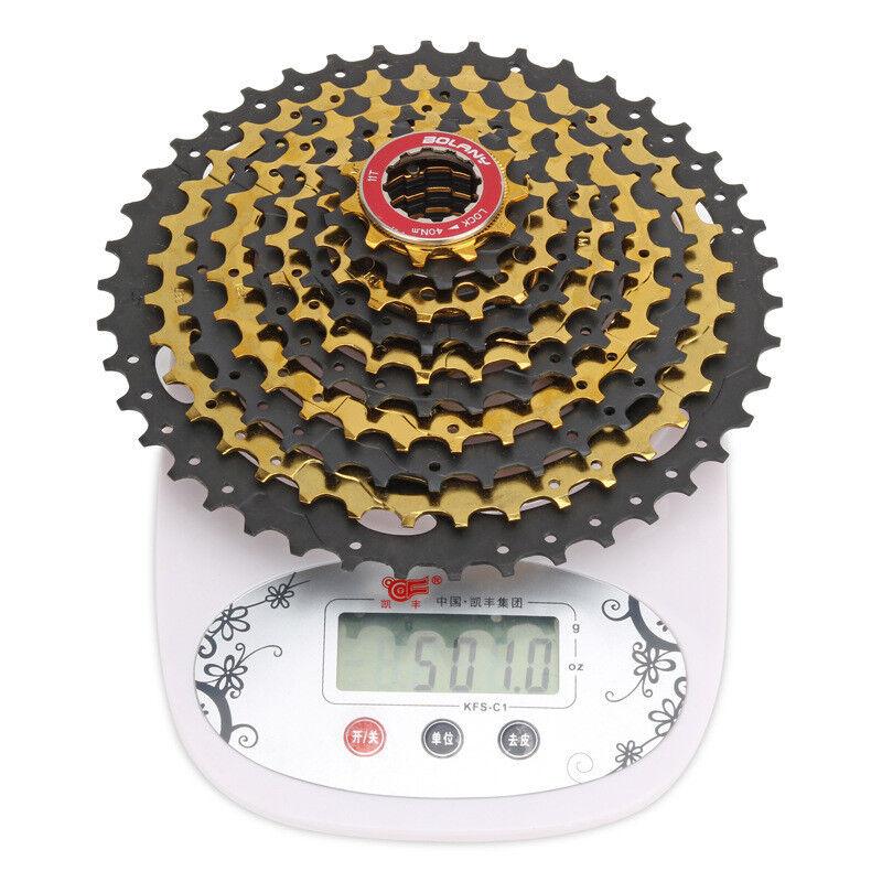 BOLANY MTB 10Speed Cassette 11-42T Mountain Bike Freewheel Rear Gear For SHIMANO