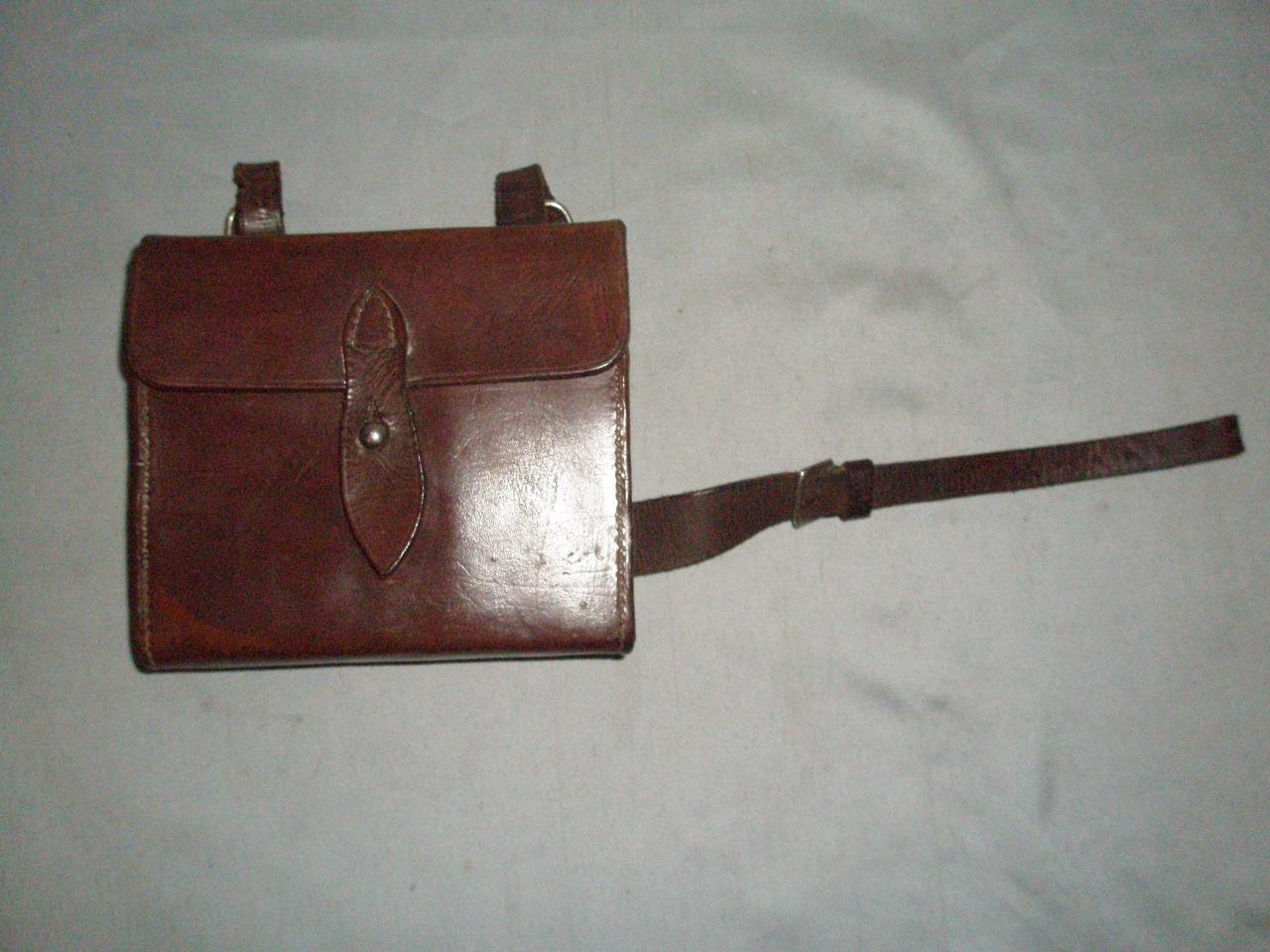 Antiguo Hunt Cantimplora Con Recipiente Y Sandwich Tin-English Leather