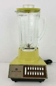 Vtg Waring Solid State Yellow Blender Cloverleaf Glass 40 Oz 14 Speed 70s 11 299 Ebay