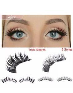False-Magnetic-Eyelashes-Premium-Set-Triple-Magnets-2-PCS-No-Glue-3D-Lashes