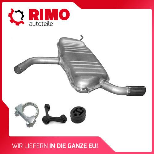 2003-2013 Audi A3 1.6 1.6 FSI Endschalldämpfer Mit Montagesatz Auspuff