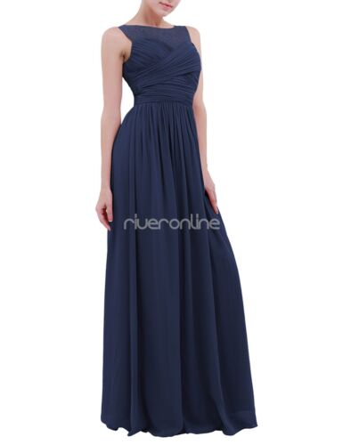 Elegant Party Dress Bridesmaid Chiffon Maxi Dress Prom Gown Wedding Cocktail