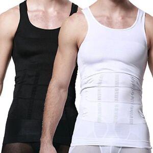 e93cdd2511bb7 Men s Body Shaper Slimming Shirt Compression Sauna Vest Elastic Slim ...
