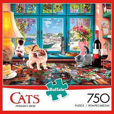 Buffalo Games Puzzle Puzzler/'s Desk Cats Steve Read 750 Pieces #17084
