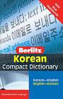 Berlitz Language: Korean Compact Dictionary: Korean-English : English-Korean by Berlitz Publishing Company (Paperback, 2006)
