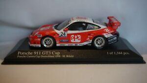 Très rare Minichamps Porsche 911 Gt3 Carrera Cup 2006 Brückl Motorsport # 24 1:43 4012138074675