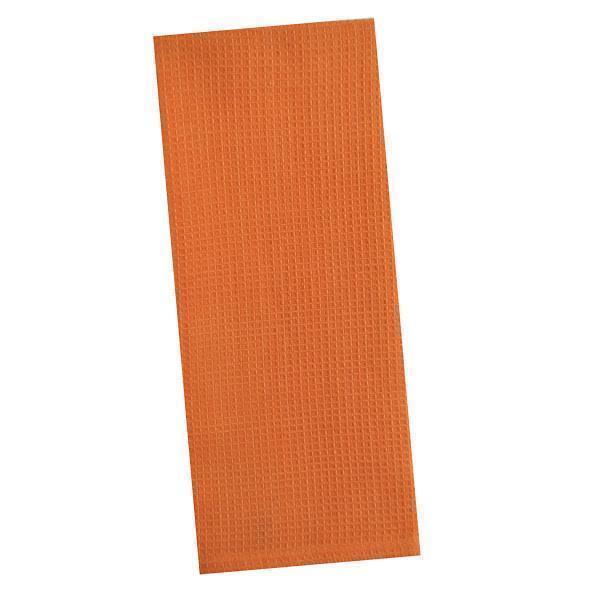Set Of 2 TANGERINE Orange Waffle Weave 100% Cotton Kitchen Dish Towels