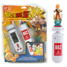 DRAGONBALL Z LCD BATTLE CAPSULE ELECTRONIC GAME + GOKU FIGURE BANDAI GIFT TOY