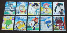 Japan 2009 C1980 Animation Hero Series IX GeGeGe no Kitaro stamp 10v USED