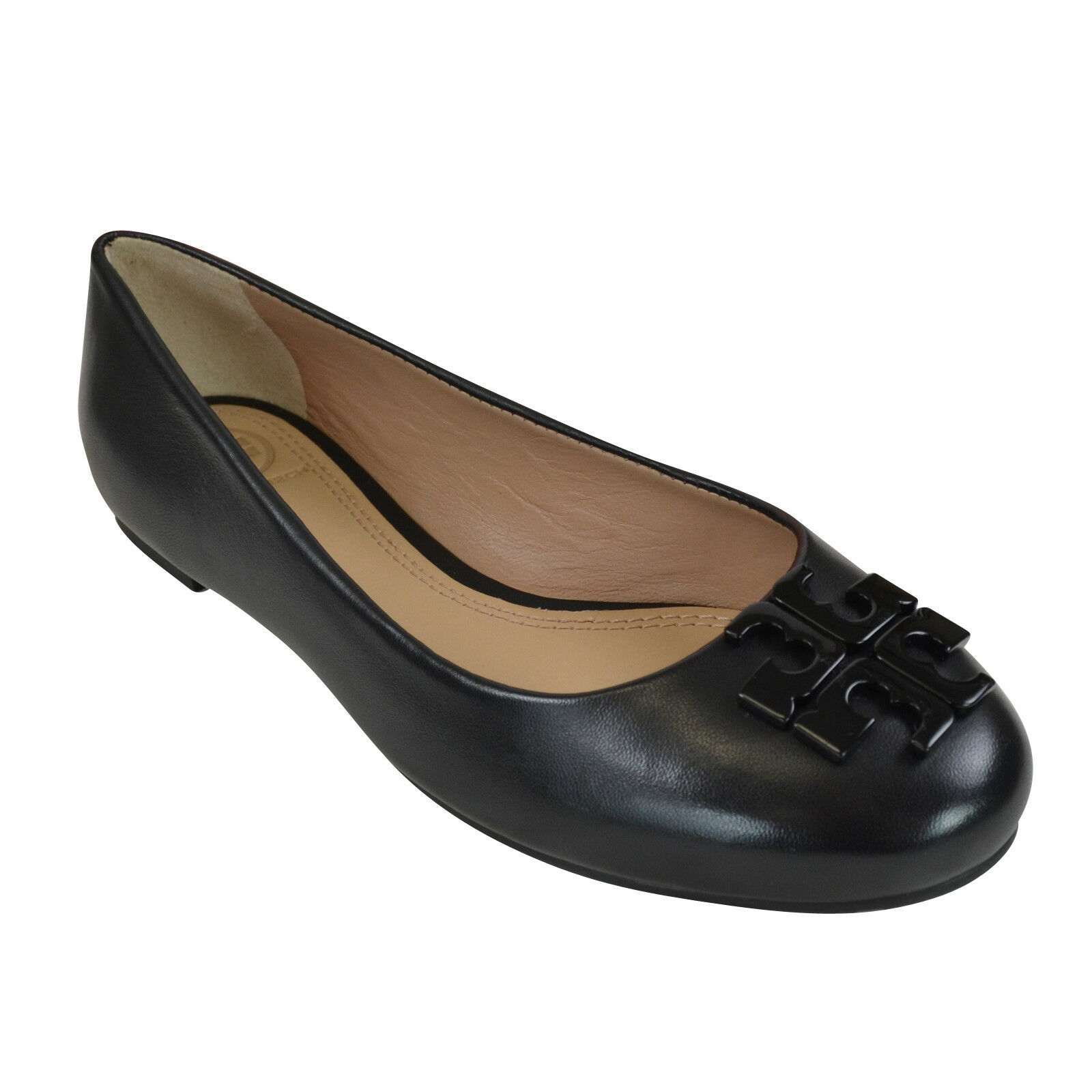 NIB  Tory Burch Lowell 2 Leather Ballet Flats nero 8  ti aspetto