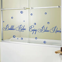 Bubble Relax Bathroom Art Wall Stickers Quotes Wall Decasl Wall Decoration