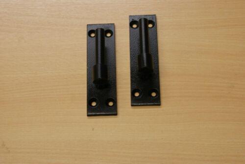"hook on plate heavy duty for garden gate stable door /& Garage  Black 1//2/"" 1 pair"
