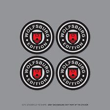 SKU2256 - 4 x VW Wolfsburg Alloy Wheel Centre Cap Stickers Badges Car - 60mm