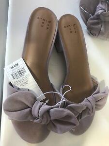 9dd4ebd48b90 NWT A New Day Women s Lavender Hyleta Knotted Bow OpenToe Heeled ...