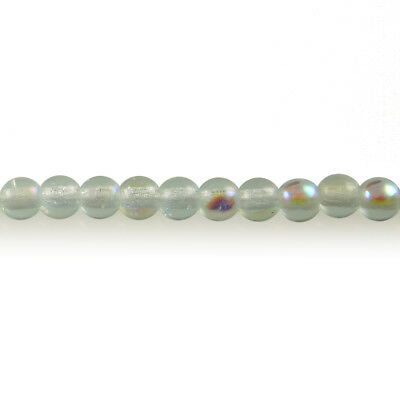 100 3mm Round Czech Glass Pressed Druk Beads Peridot Green Transparent