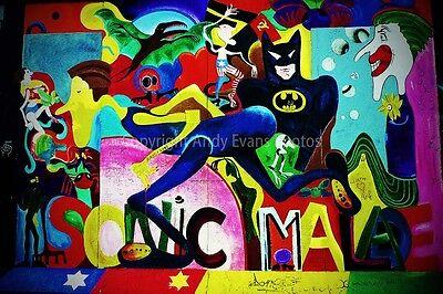 Artwork street art graffiti Berlin Wall Germany photograph picture poster print