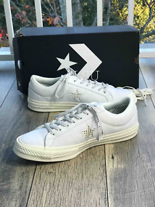 Sneakers-Men-039-s-Converse-One-Star-Canvas-Low-Top-White-Black-Egret