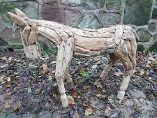 Radice di teak incredibile cavallo cavallo Massello Teak superba SCULTURA