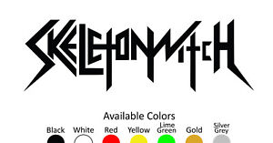 SKELETONWITCH VINYL DECAL STICKER CUSTOM SIZE AND COLOR 002
