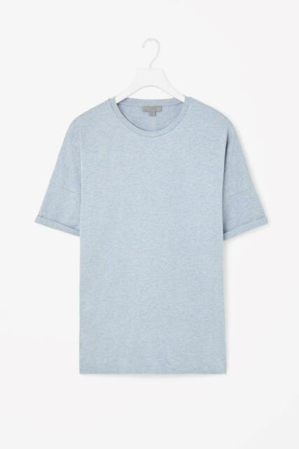 New COS blue men's t-shirt sizes (M,L), cotton, 0305175002
