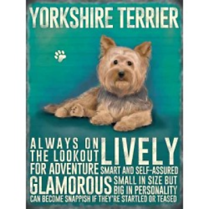 Vintage-Rétro-Dog Lovers cadeau-Metal Sign-Yorkshire Terrier