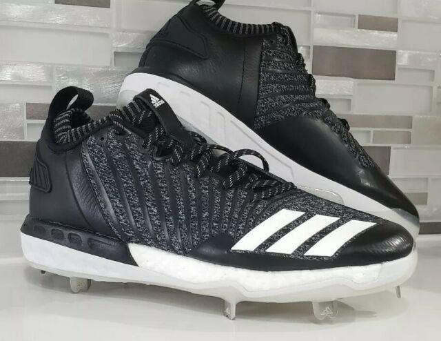 meet 3d749 82535 NWT Adidas Boost Icon 3 Metal Baseball Cleats Knit Black White DB1793 Men 10