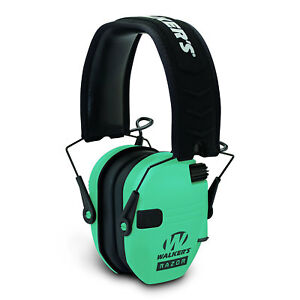 Walkers Razor Series Slim Lo Profile Ear Muffs Hearing Protection - Light Teal
