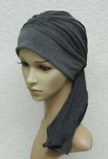 Full turban with ties, chemo head wear, head covering for hair loss, turban hat