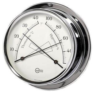 Schiffshygrome<wbr/>ter / Thermometer Barigo Regatta Chrom