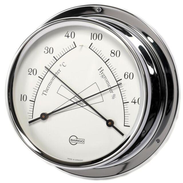 Barigo Bootsport Thermometer Hygrometer Chrom Regatta Bootsteile & Zubehör
