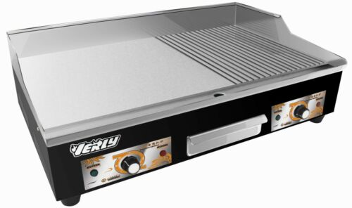 New Commercial 73cm Wide Electric Griddle Hotplate Flat Ribbed