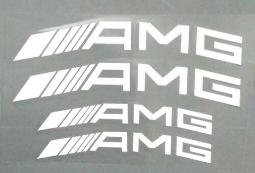 NEW White AMG Caliper Brake Decal HI TEMP Vinyl Sticker