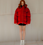 Womens-Red-Puffer-Oversized-Short-Coat-Hooded-Down-Cotton-Coat-Thicken-Warm-New thumbnail 4