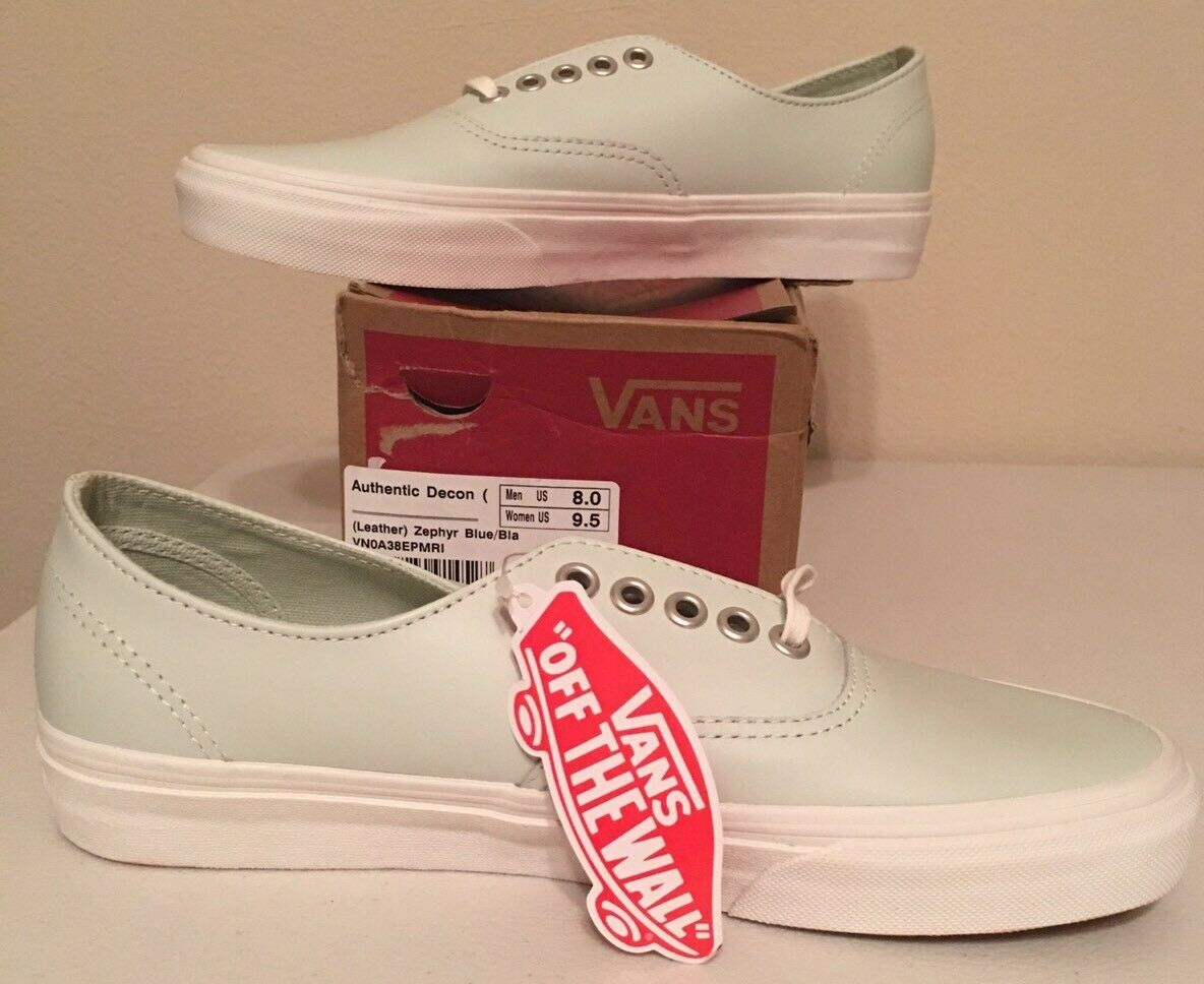 VANS AUTHENTIC DECON LEATHER ZEPHYR blueE SIZE WOMENS 9.5 NEW WITH BOX