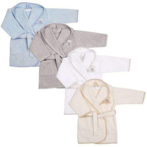 Babybademantel mit Applikation und Kapuze 100/% Baumwolle Baby Bathhood