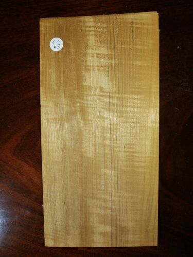 CONSECUTIVE SHEETS OF FIGURED TEAK VENEER 16 X 32 cm TK#3 MARQUETRY