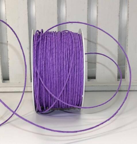 0,17 €//M 10 m fil cordon Cordon Papier Fil Papier Ciré Noir Blanc Violet