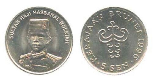 Brunei 1996 5 Sen Uncirculated KM35