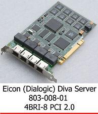 EICON (DIALOGIC) 803-008-01 800-665-01 PCI 4BRI-8 ISDN ADAPTER ISDN KARTE CARD