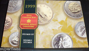 1999 ~ Canadian 7 Coin Specimen Set ~ LOON  BEAR ~