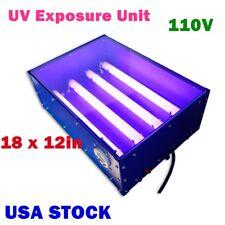 Usa 110v 60w 18 X 12in Uv Exposure Unit Screen Printing Silk Screening Making