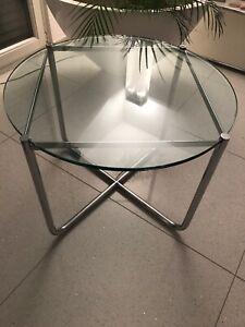 Knoll Mr Tisch Mies Van Der Rohe Glas Couchtisch Beistelltisch Ebay