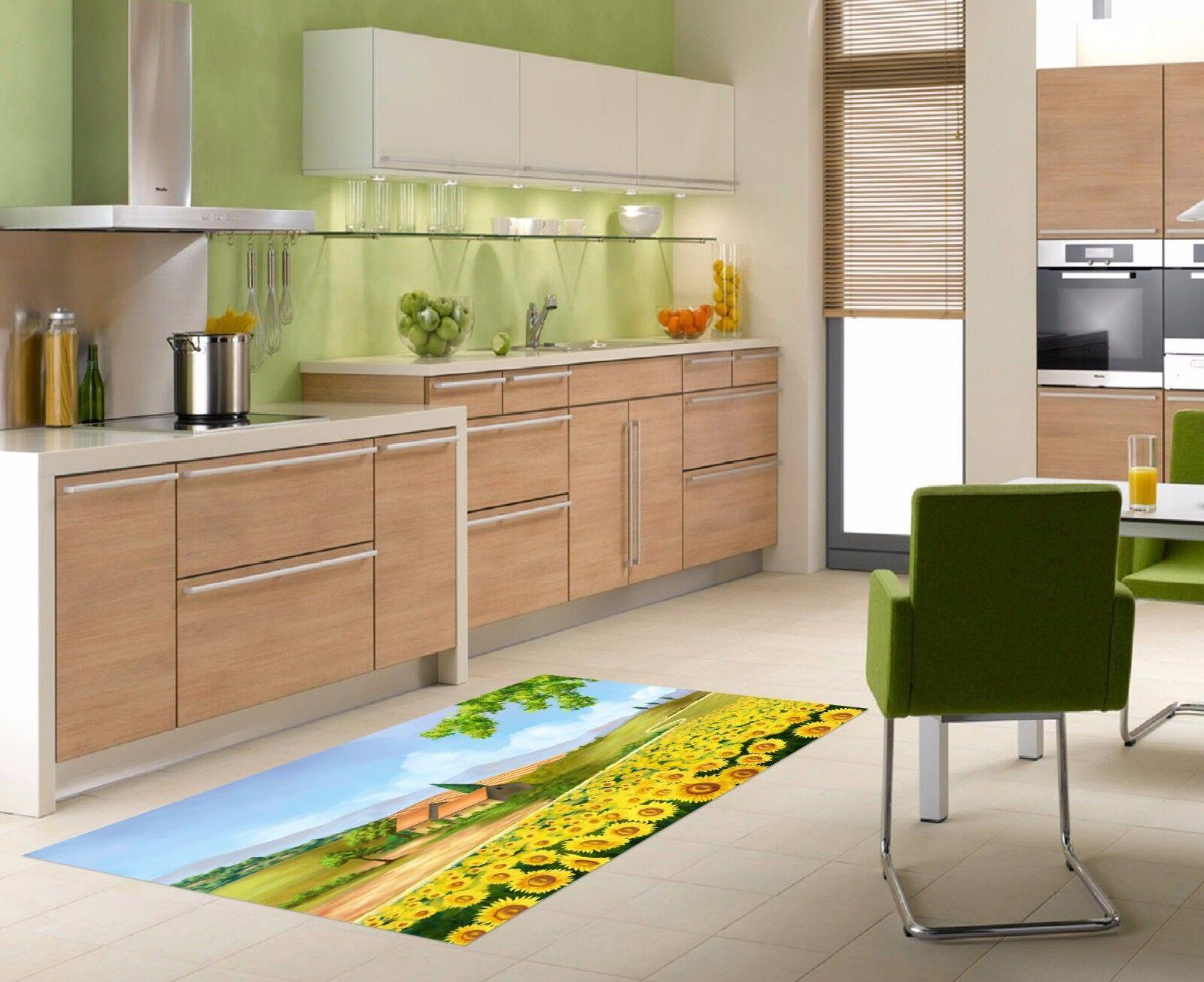 3D Hut Flowers 73 Kitchen Mat Floor Murals Wall Print Wall AJ WALLPAPER AU Carly